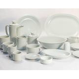 Juego 12 Piezas Porcelana Tsuji 450 Tazas Desayuno+plato Ss