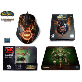 Combo Steelseries Wow Mmo Mouse Legendary + Mousepad Wow