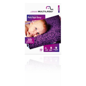 Photo Paper Multilaser A4 200g C/ 10 Folhas Mania Virtual
