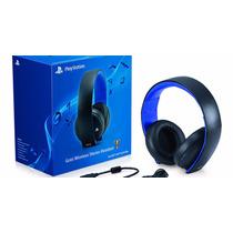 Headset Sony Gold Wireless 7.1 Para Ps3 Ps4 Ps Vita Lacrado