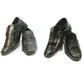 2 Pares Sapato Social Preto Simples Lindo Maravilhoso