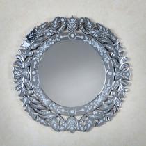 Espelho Veneziano Decorativo Redondo Retro Vintage Vitoriano