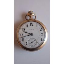 Reloj De Bolsillo De 1910 Mca. Elgin 17 Joyas Chapa De Oro