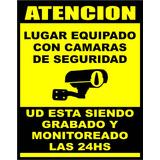 Cartel Aviso De Cámaras De Seguridad - Serigrafia 22x28