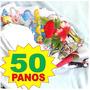 Kit Pano De Prato Guardanapo Bainha Saldão Atacado 50 Und