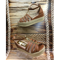 Sandalia Plataforma Bajitas Miel Mujer Fabricantes Calzado