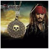 Colar Piratas Do Caribe Caveira Jack Sparrow