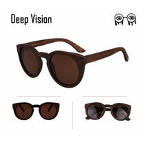 Óculos De Sol The Bamboo Deep Vision Classic Madeira