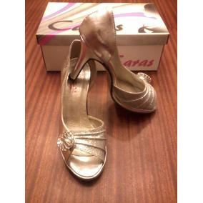Zapato Plateado Clásico Nº36 Plataforma De 1.5 Cm, Nuevo!!!