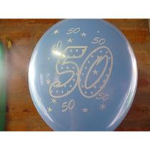 Globos Cumple 40-50-60-años 12 Pulg.aptos Helio X 50