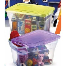 Caixa Plastica Organizadora 55l Kit 03 Caixas Stylo Cód. 896