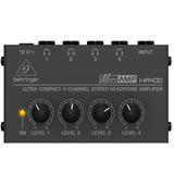 Amplificador Para Fone De Ouvido Behringer 4 Fones Ha400