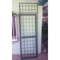 Reja Protector Metálico Para Puerta De 0.79x2.49m