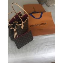 Cartera Louis Vuitton Neverfull Pivoine M. Original