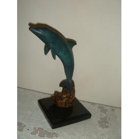 Delfin De Bronce. Decoracion De Interior