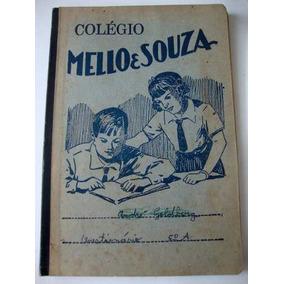 Caderno Caderneta Antigo Colegio Mello&souza