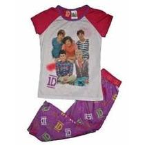 Pijama 7/8 Anos One Direction Nina Playera Pantalon 1d Bella