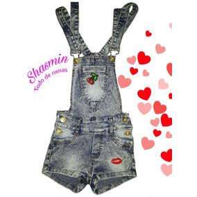 Jardineros Jeans Cortos De Nenas!! Ultima Moda. T 4 Al14