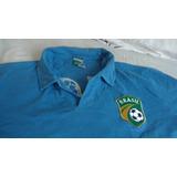 Camisa Brasil 1958 Braziline Azul Tamanho Gg!