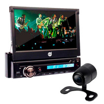 Dvd Automotivo Retratil 7 Bluetooth Usb Câmera Ré Saida Tv