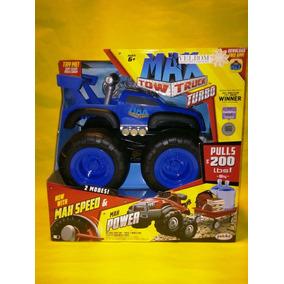 Camioneta Monster Truck Max Tow Truck Turbo Remolca 90 Kilos