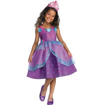 Disfraz Talla 3 A 4 Años Barbie Princesa Vestido Niña