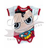 Pañalero Superman Cabezon Original Dc Comics