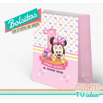 Cumple Minnie Bebé - Bolsita Minnie Bebe Para Imprimir