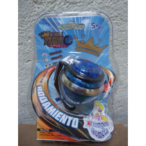 Trompo Cometa King Turbo Con Rodamiento Color Azul Rey