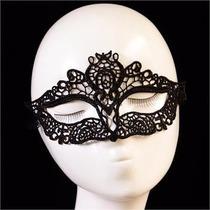Antifaz Encaje Disfraz Sexy Mascara Xv Cosplay Negro 23a