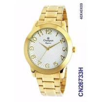 Relógio Champion Folheado A Ouro Cn26733h O R I G I N A L