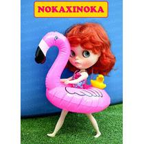 Flamingo Bóia De Praia Para Boneca : Blythe Pullip Barbie
