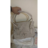 Bolsa Guess Original Creme Media Muito Linda Top