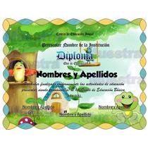 10 Plantillas Editables Para Diplomas Infantiles Preescolar.