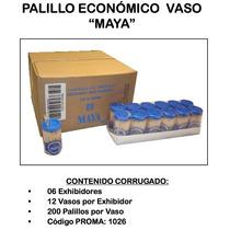 Palillo De Dientes Vasito Maya 72/250