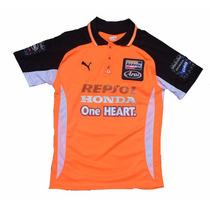 Camiseta De F1 Repsol Honda Laranja Nova Masculino-fg