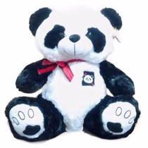 Urso De Pelúcia Panda Grande Coração 50cm! Pronta Entrega!
