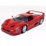 Miniatura De Ferrari F50 Race E Play Vermelha 1:18 Burago