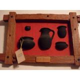 Artesanía En Cuadros Rústicos-vasijas Indígenas En Relieve