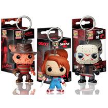Llavero Set Terror Chucky Freddy Jason Funko Pop Peliculas