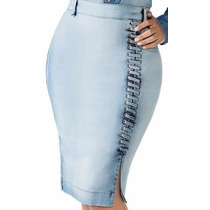 Saia Jeans Evangélica 62 Cm Titanium 23079 Lançamento 2017