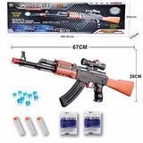 Rifle Ak-47 Arma Brinquedo Lança Dardos + 400 Bolinhas
