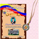 Diploma En Opalina + Medalla Sexto O Preescolar