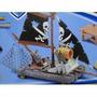 Nova Miniatura Navio Pirata Jangada Capitão Gancho Peter Pan