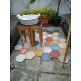 Calcáreo Hexagonales Lisos Y Con Dibujo,piso Y Revestimiento