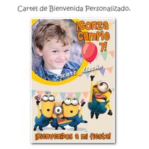 Mi Villano Favorito Minions Cartel De Cumpleaños Con Tu Foto