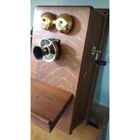 Teléfono Antiguo Pared Madera Ericsson 35mw