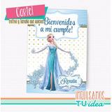 Cumple Frozen - Cartel Bienvenidos Frozen Para Imprimir