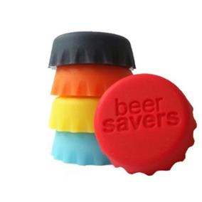 Tapas Para Botellas De Silicona X 6 Tapon Tapa Cerveza Agua