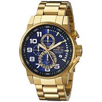 Reloj Invicta 46mm Chapado En Oro De 18k A Meses Sin Int